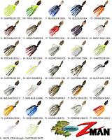 Z-MAN Chatterbait Original 3/8oz Bladed Vibrating Swim Jig CB38 Any 32 Colors