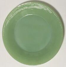 "Vintage FIRE KING JADEITE Jane Ray Dinner Plate 9"" Green MCM"