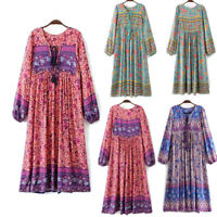 Vintage 70s Hippie INDIA ETHNIC Dashiki Festival BOHO Floral Bib Midi Mini DRESS