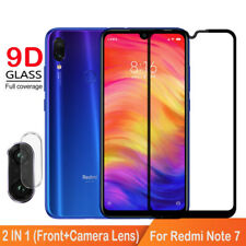 9D Full Cover For Xiaomi Redmi Note 7 Tempered Glass + Camera Lens Glass Film yu