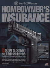 2011 SMITH & WESSON Advertising SD9 & SD40 Pistol Collectible Print AD