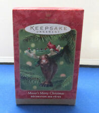 Hallmark - Keepsake Christmas Ornament - Moose's Merry Christmas - 2001 NIB