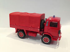 Vintage -Solido- Toy Truck Car Fire Engine Army Renault Transporter M1:55