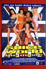 SPICE WORLD SPICE GIRLS 1997 RARE CROATIAN MOVIE POSTER
