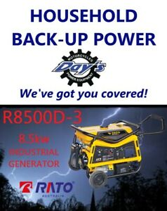 RATO R8500D-3 OPEN FRAME GENERATOR 8.5KW with RCD