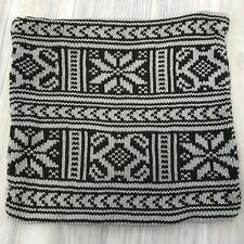 Pottery Barn Accent Pillow Cover Sweater Knit Nordic Snowflake