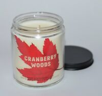 BATH & BODY WORKS CRANBERRY WOODS SCENTED CANDLE SINGLE WICK 7OZ ESSENTIAL OILS