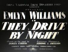THEY DRIVE BY NIGHT, 1938, EMLYN WILLIAMS British 'Film Noir': Region 2 DVD-R