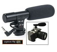 Professional Mini Condenser Microphone For Camera Camcorder Sony Nikon Canon