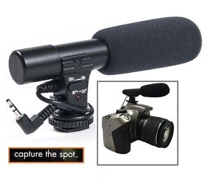 Profi Mini Kondensator Mikrofon Für Panasonic Lumix DC-GH5 DMC-G85