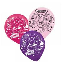 PAW PATROL Girls Latex Birthday Party Balloons x 6