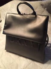 DKNY Metallic Gray Backpack; new without tags
