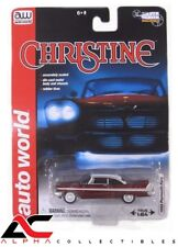 CHASE AUTOWORLD AWSS6401 1:64 1958 RED PLYMOUTH FURY CHRISTINE NIGHT VERSION