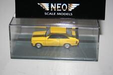 Neo Scale Models 1:87: 87492 Ford Escort Sport, gelb, OVP, Präsentationsbox
