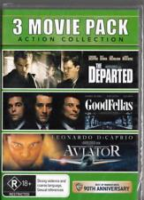THE DEPARTED  & GOODFELLAS & THE AVIATOR - 3 FILM PACK -  REGION 4 NEW DVD