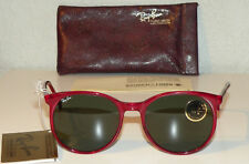 NEW Ray-Ban B&L USA STYLE C TRANSPARENT RED Sunglasses Vintage '80s LARGE FRAMES