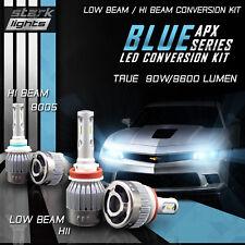 H11 9005 4PCS Stark LED APX 90W 96000LM Headlight High 8000K Blue Kit - (A)