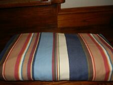 Queen POTTERY BARN Striped Blue, Red Duvet Cover!