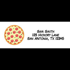 30 Personalized Return Address Labels -  Pizza Party