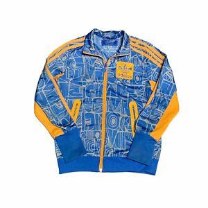Adidas Originals Track Jacket Youth Size Small Street Graphic Blue Orange