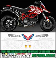 kit adesivi stickers compatibili HYPERMOTARD 796 1100 MOTO GP 2019 TRIBUTE REPL