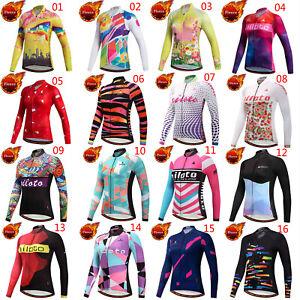Miloto Women's Fleece Cycling Clothes Top Ladies Winter Bike Cycle Jersey Shirt