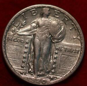 1920-S San Francisco Mint Silver Standing Liberty Quarter