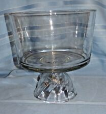 Vintage Large Crystal Triffle Fruit Centerpiece Bowl Beautiful Pedestal Base