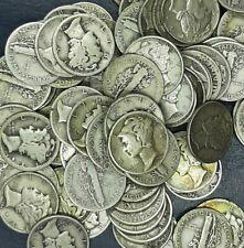 (10) Each Mercury Dime Average Circulated Condition