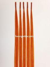 "14"" I tip 100% Human Hair Extension 5 pcs + Micro Hair Beads Rings USA SELLER"
