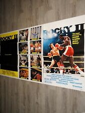 sylvester stallone ROCKY II magnifique rare affiche cinema 100X180cm boxe 1979