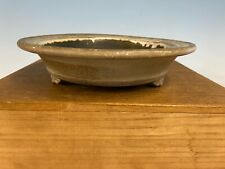Round Cream Glazed Shohin Size Tokoname Bonsai Tree Pot Made Koyo 8� Patina!