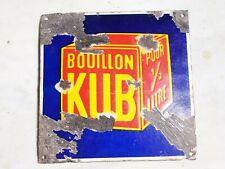 rare plaque émaillée ancienne bombée KUB 20 x 20 cm