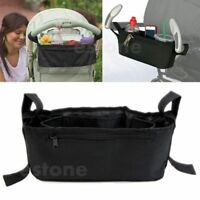 Stroller Organizer Basket Pushchair Baby Travel Diaper Nappies Storage Bag