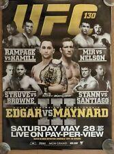 UFC 130: Edgar/Maynard III *ORIGINAL*/131: dos Santos/Lesnar, Double Side Poster