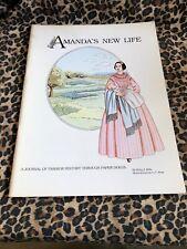 Paper Dolls Book Uncut Amanda'S New Life Journal Of Fashion History Betty Mills