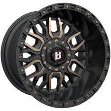 "Ballistic 969 Tomahawk 20x9 5x135/5x5.5"" +0mm Black/Bronze Wheel Rim 20"" Inch"