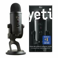 Blue Microphones Yeti USB Microphone, Blackout Pro Mic Vlog Studio Youtube Blog