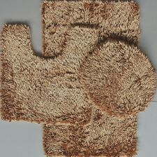 3 Piece Shaggy Shiny Chenille Made with 100% Polyester ( Gold)