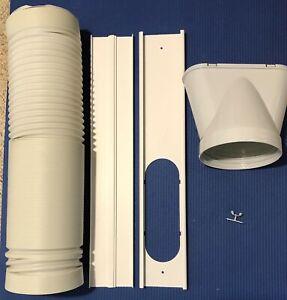 Portable Air Conditioner Spare Parts Gob+Window Slide Kit Plate +Hose 15cm 1.8M