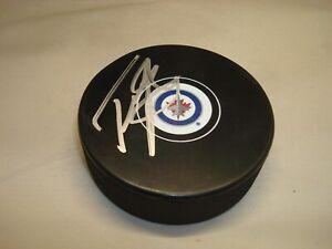 Tyler Myers Signed Winnipeg Jets Hockey Puck Autographed 1D