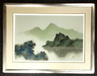 RARE David Lee Signed Seascape Mountain Lake Landscape Lithograph Limited Editio