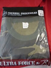 ROTHCO THERMAL UNDERWEAR SHIRT 5XL WOODLAND CAMO GREEN  NEW UNTRA FORCE