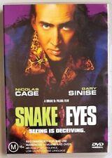 Snake Eyes (Nicholas Cage & Gary Sinise) Dvd *Like New* (Region 4)