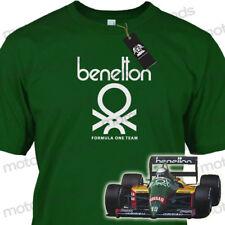 Retro BENETTON F1 Team Vintage Motorsport Adult Cotton T-Shirt Tee