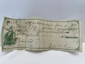 antique 1872 Chattanooga Tennessee receipt check paper TN anderson old