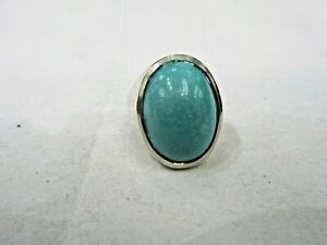 Sterling Silver Men's Turquoise Ring