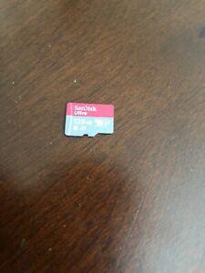 Red/Gray Genuine Sandisk Ultra Nintendo Switch 128gb Micro SDXC Memory Card!