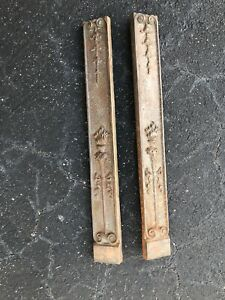 2 Antique Cast Iron - LARGE - Detail Architectural Salvage Accent Pieces