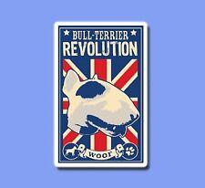 Bull Terrier Revolution UK Dog Vintage Sticker Skateboard Guitar Vinyl Decal Car
